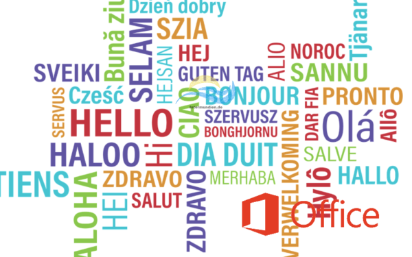 Office 365 Layout Sprache über GUI ändern
